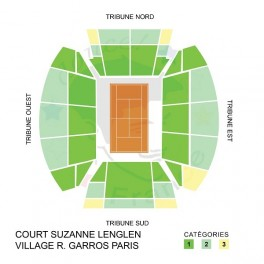 Seating charts court S. Lenglen - French Open Paris