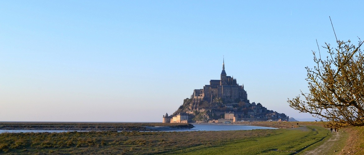 the abbey of Mont-Saint-Michel